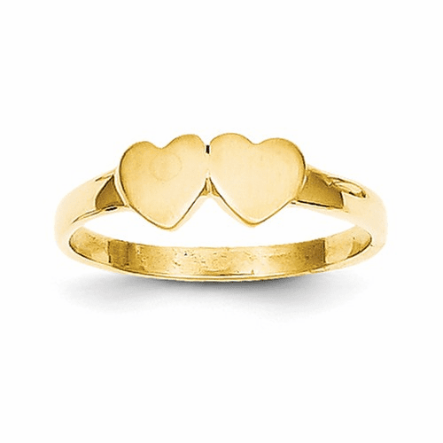 14k Childs Double Heart Ring R200