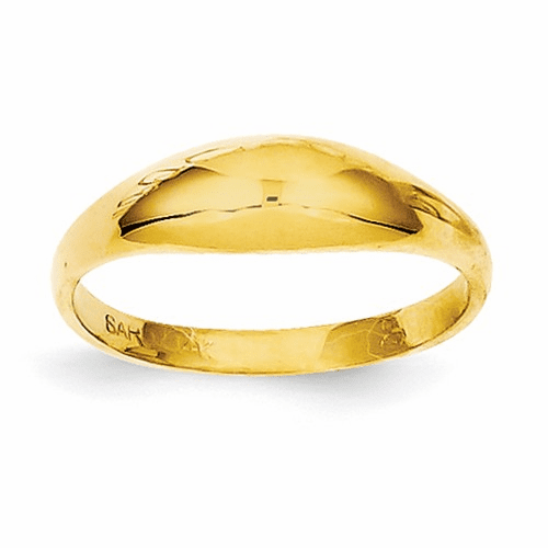 14k Childs Polished Dome Ring R196