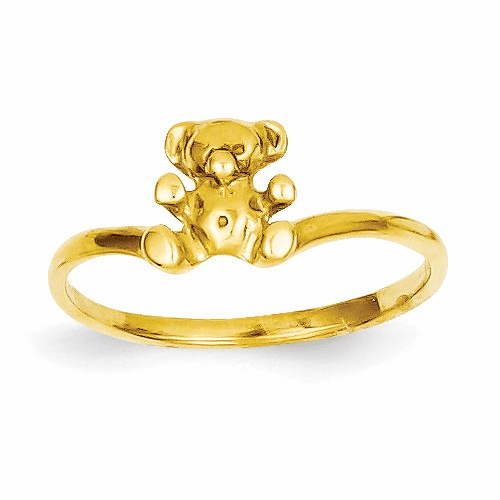 14k Childs Polished Teddy Bear Ring R194