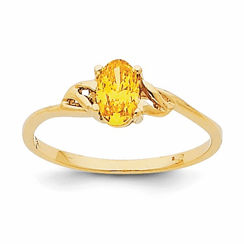14k Citrine Birthstone Ring Xbr140