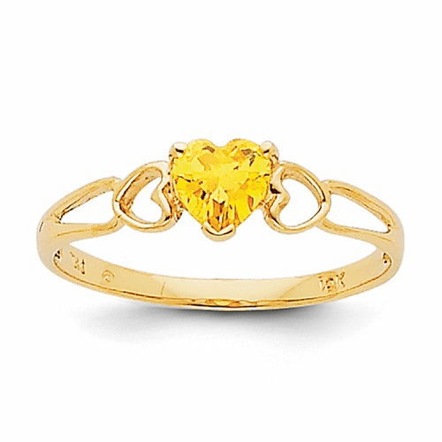 14k Citrine Birthstone Ring Xbr164