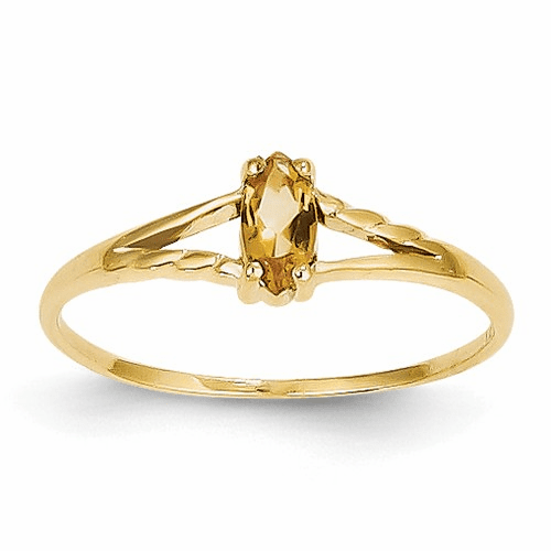 14k Citrine Birthstone Ring Xbr188