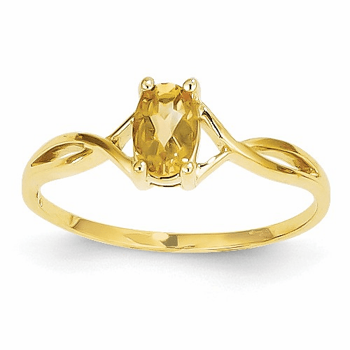 14k Citrine Birthstone Ring Xbr236