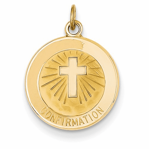 14k Confirmation Medal Charm Xr358