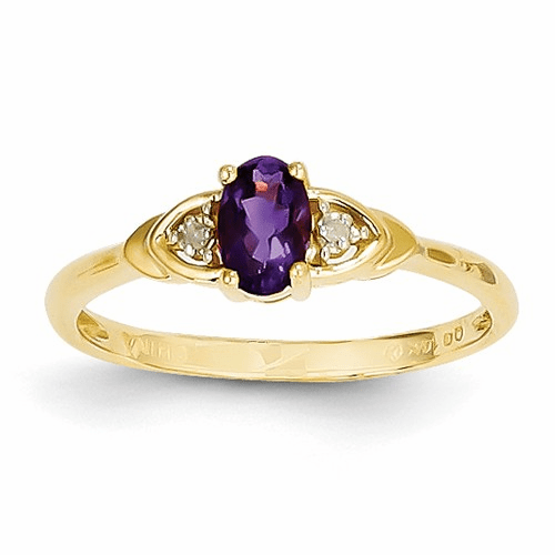 14k Diamond & Amethyst Ring Xbs261