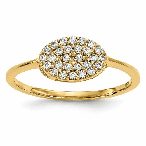 14k Diamond Cluster Oval Ring Y13741a