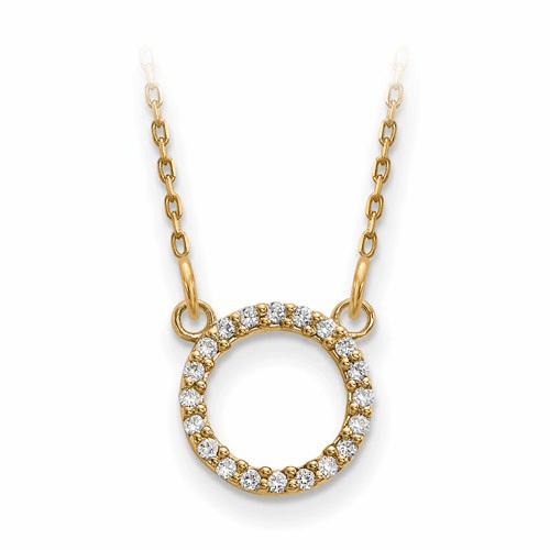 14k Diamond Open Circle Necklace Xp5027a
