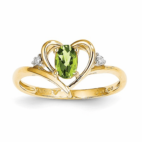 14k Diamond & Peridot Ring Xbs497