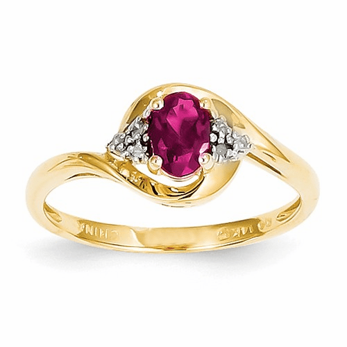 14k Diamond & Ruby Ring Xbs414