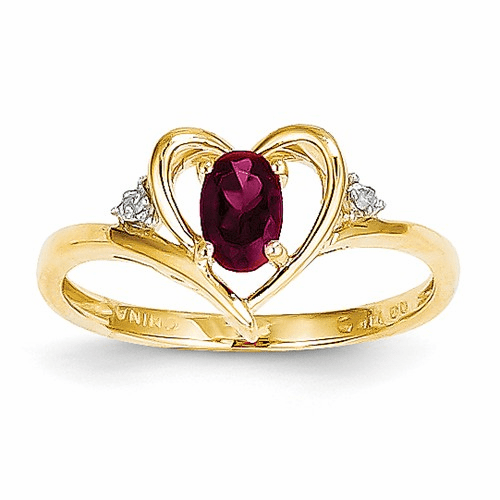 14k Diamond & Ruby Ring Xbs486