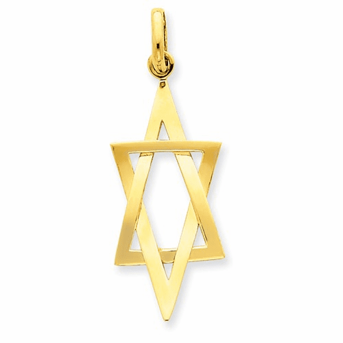 14k Elongated Star Of David Pendant K3796