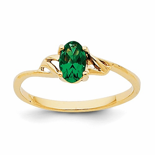 14k Emerald Birthstone Ring Xbr134