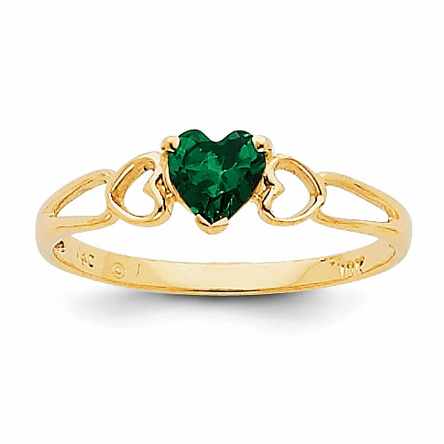 14k Emerald Birthstone Ring Xbr158