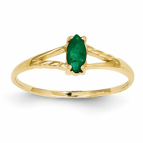 14k Emerald Birthstone Ring Xbr182