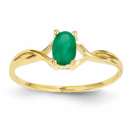 14k Emerald Birthstone Ring Xbr230