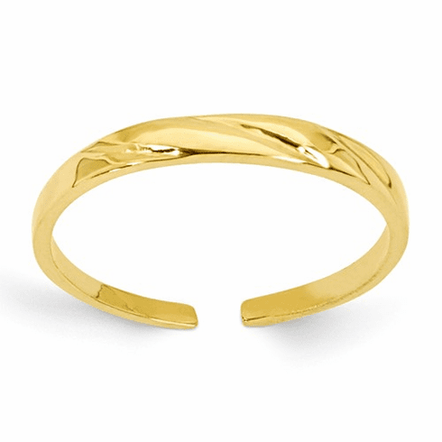 14k Fancy Toe Ring C2096