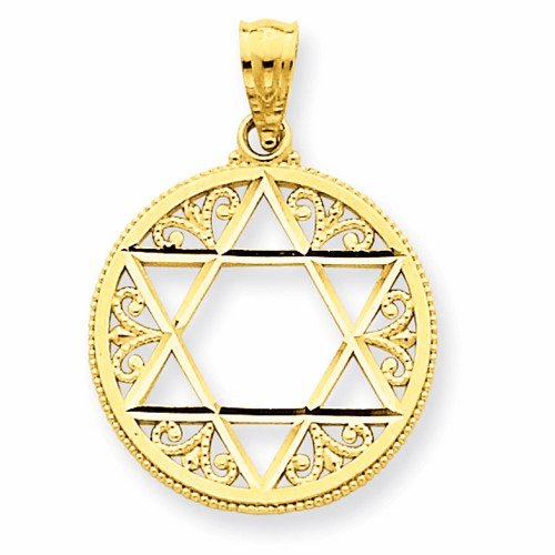 14k Filigree Star Of David Pendant C3739