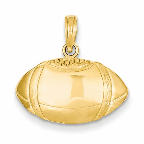 14k Football Profile Pendant C3769