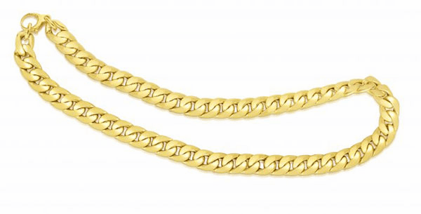 "14K Gold 7.5"" Yellow Finish 10mm Soft Faceted Curb Fancy Link Bracelet"