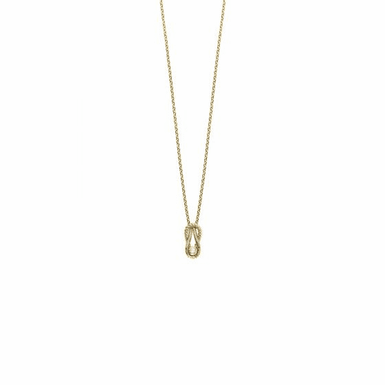 14k Gold Italian Cable L'Infinito Necklace with .025ct Diamond
