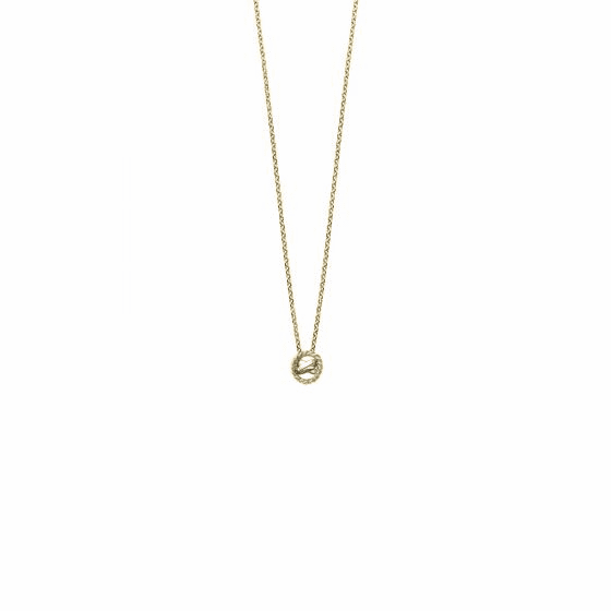 14k Gold Italian Cable Two-tone Small X Necklace
