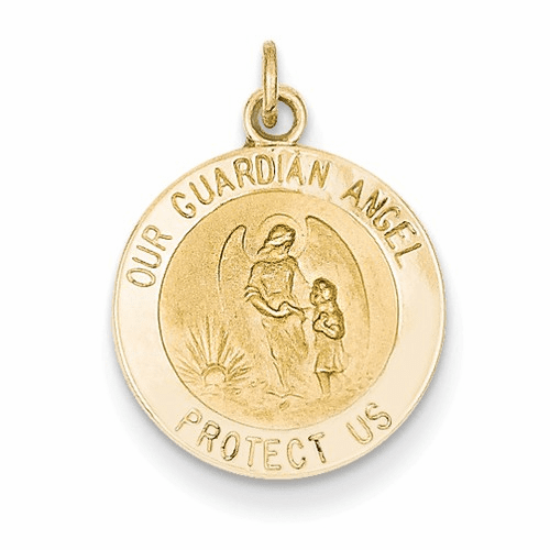 14k Guardian Angel Medal Charm Xr389