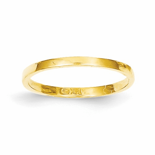 14k High Polished Band Childs Ring R535