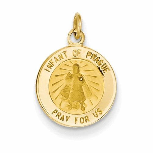 14k Infant Of Prague Medal Charm Xr645