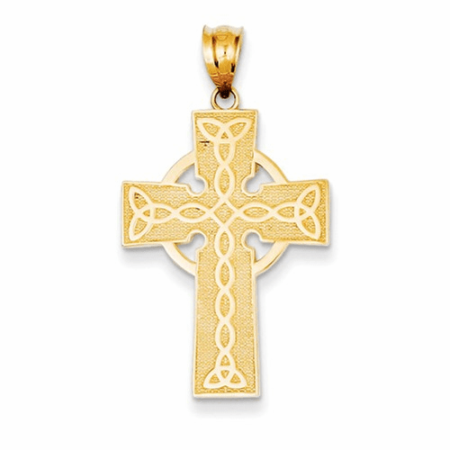 14k Irish Cross Pendant K5143