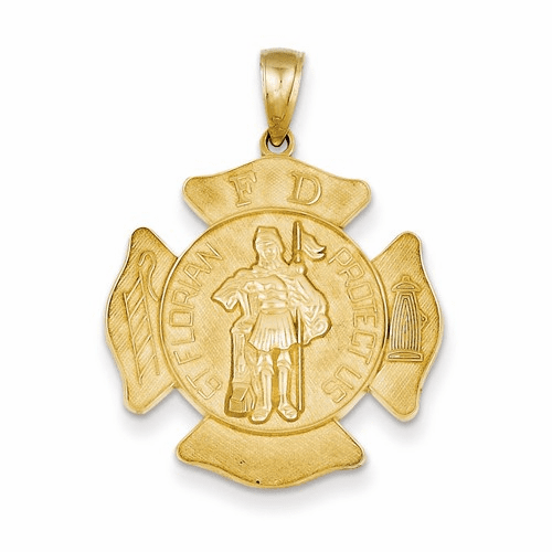 14k Large St. Florian Badge Pendant C2257