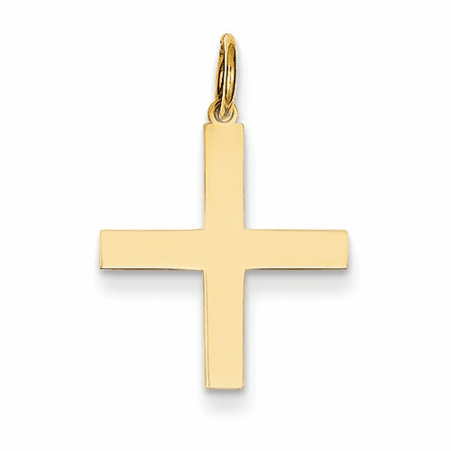 14k Laser Designed Cross Charm Xr976