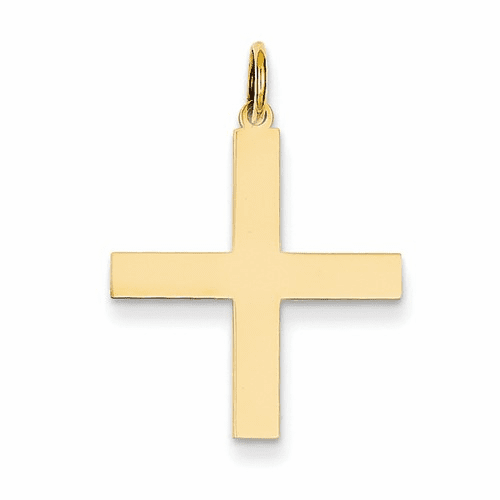 14k Laser Designed Cross Pendant Xr977
