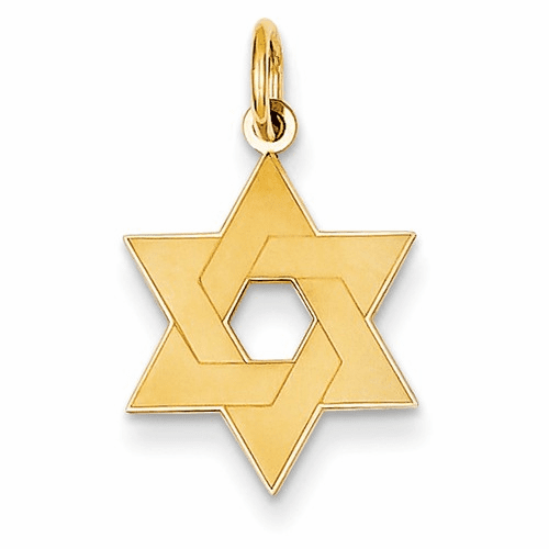 14k Laser Designed Star Of David Charm Xr984