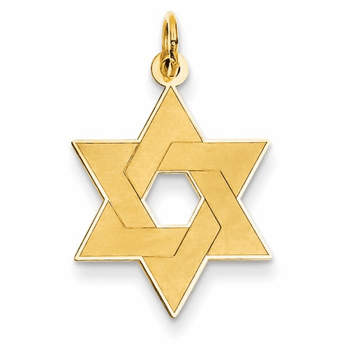 14k Laser Designed Star Of David Pendant Xr985