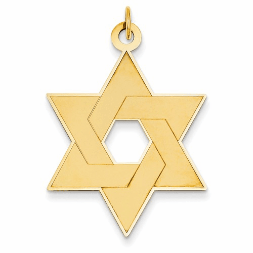 14k Laser Designed Star Of David Pendant Xr987