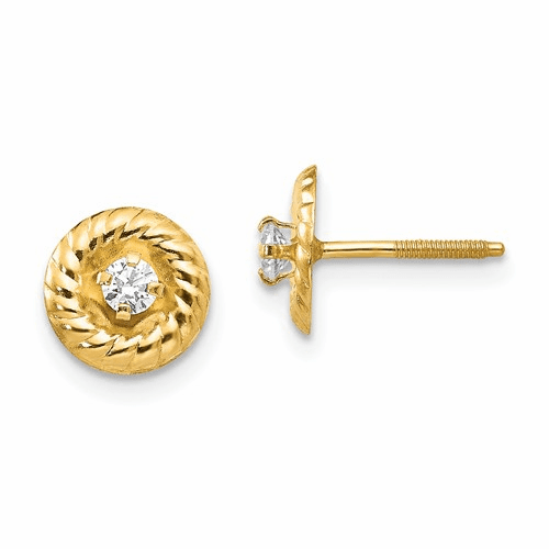 14k Madi K 2.5mm Cz Post Earrings Se2220
