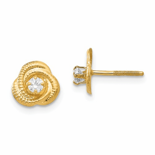 14k Madi K 2.5mm Cz Post Earrings Se2221