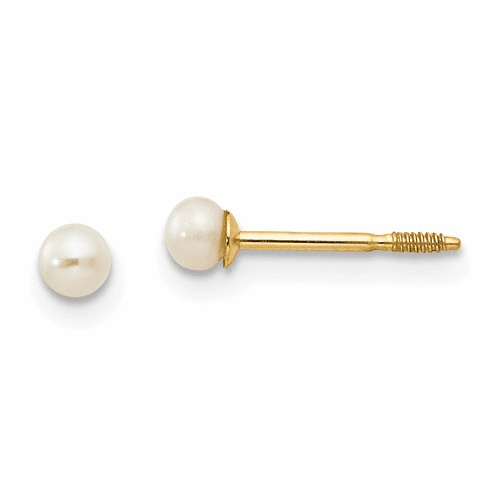 14k Madi K 3mm Fw Cultured Pearl Earrings Gk247