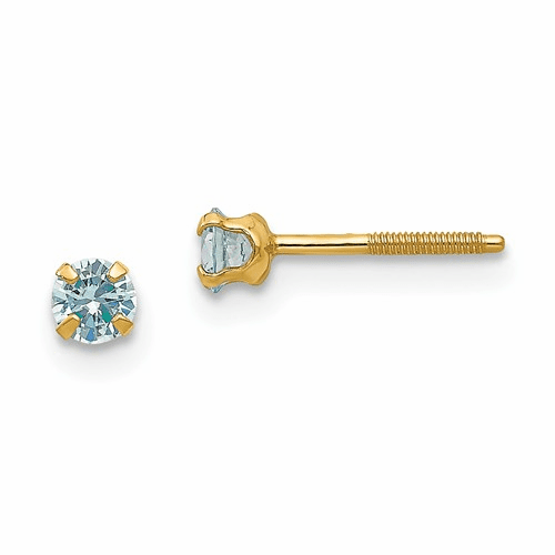 14k Madi K 3mm Synthetic Birthstone Earrings Gk195