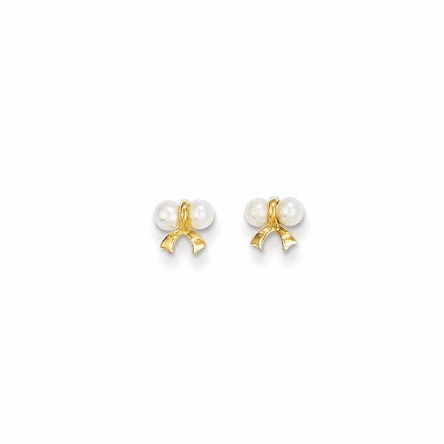 14k Madi K Fw Cultured Pearl Bow Post Earrings Se2368