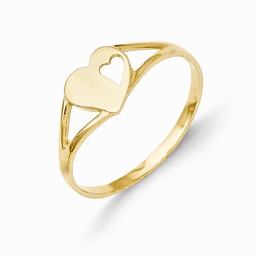 14k Madi K Heart Baby Ring Se2389