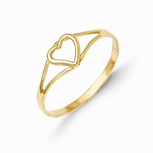 14k Madi K Heart Baby Ring Se2391