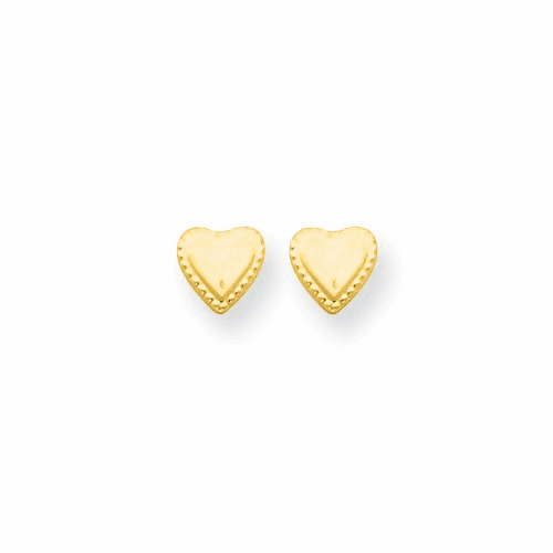 14k Madi K Heart Post Earrings Gk588