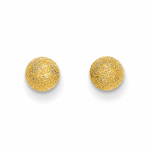 14k Madi K Laser Cut 5mm Ball Post Earrings Se2366