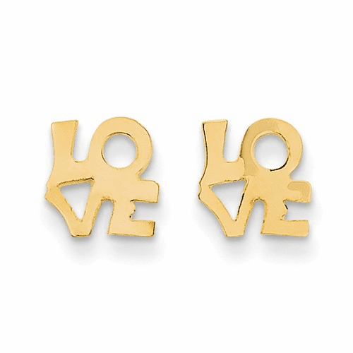 14k Madi K Love Post Earring Se2038