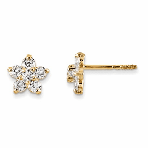 14k Madi K Marquise Cz Star Earrings Gk218