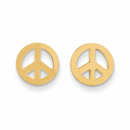 14k Madi K Peace Sign Post Earrings Se2039