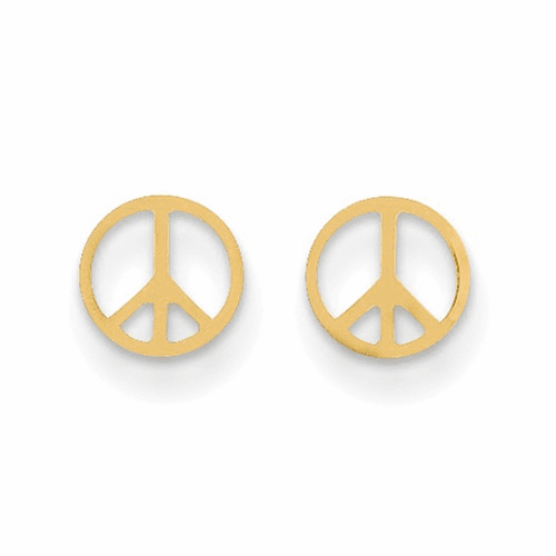 14k Madi K Peace Sign Post Earrings Se2177