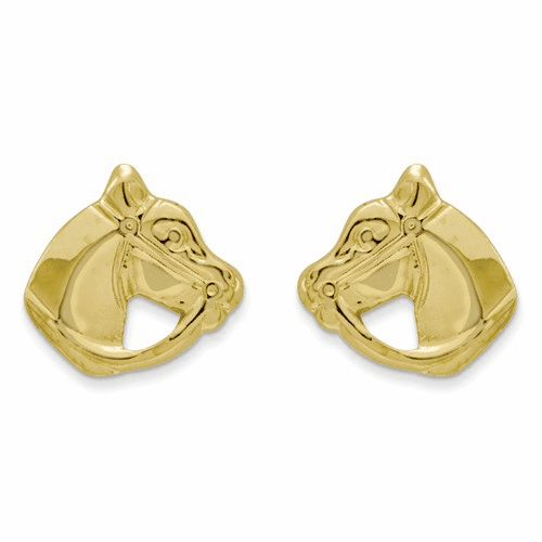 14k Madi K Polished Horse Head Post Earrings Se353