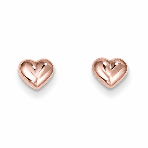 14k Madi K Rose Gold Heart Post Earrings Se1731